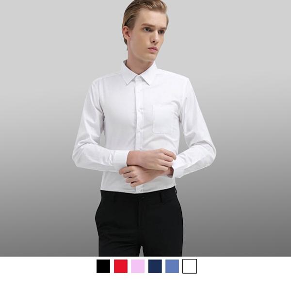 【男人幫】商務休閒百搭 都會型男長袖加大尺碼商務襯衫 (S5190)
