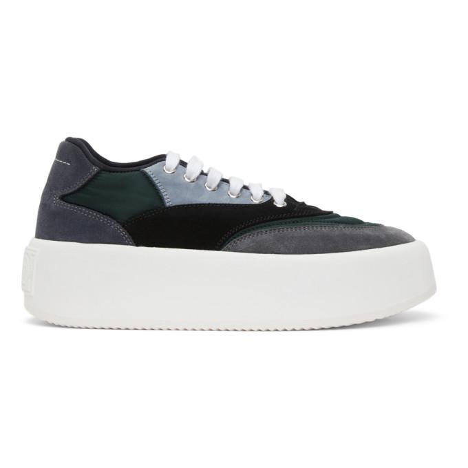 MM6 Maison Margiela 黑色 and 灰色 Flatform 运动鞋