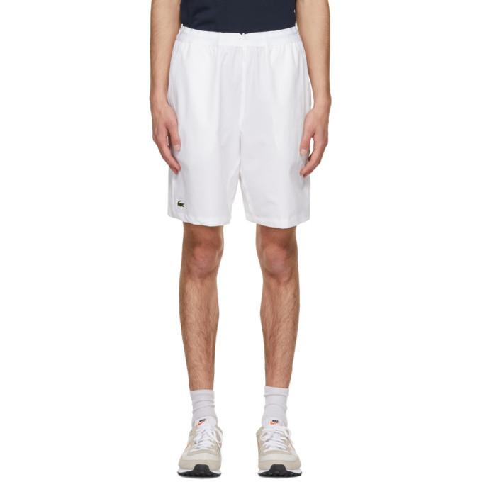 Lacoste 白色 Sport Tennis 弹性短裤
