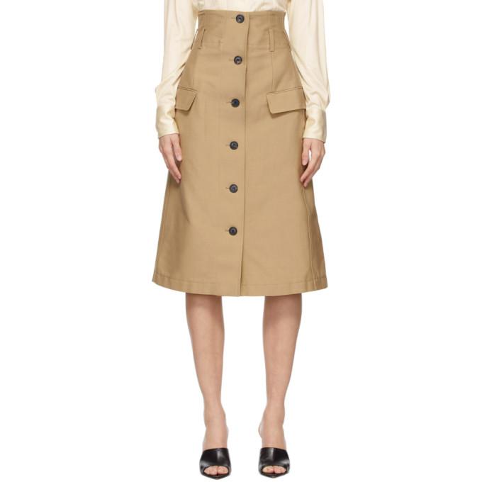 Victoria Beckham 驼色喇叭半身裙