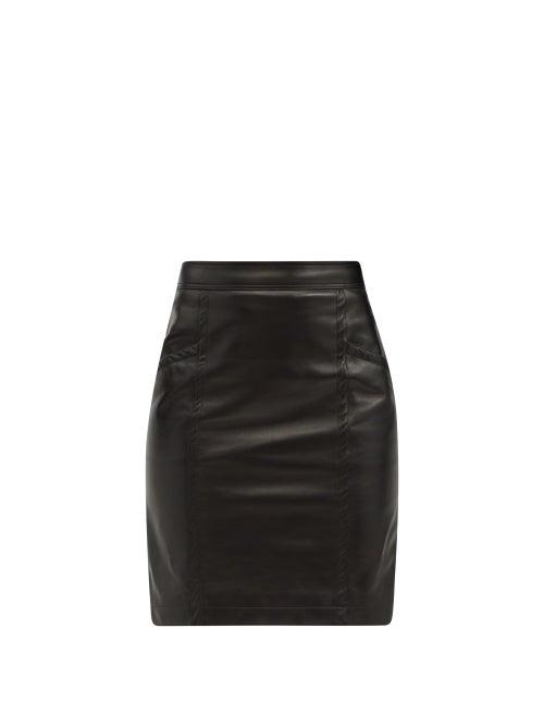 Saint Laurent - Jupe High-rise Leather Skirt - Womens - Black