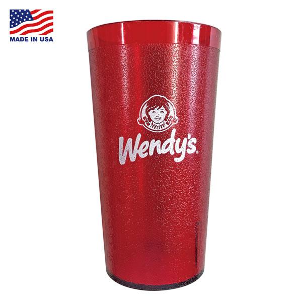 美國製 IMPACT TUMBLERS Wendy's Cup 塑膠 冷水杯 (紅色)
