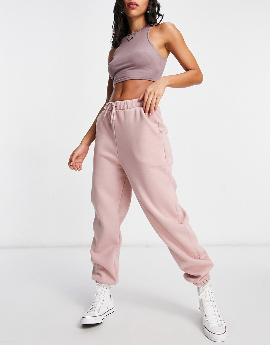 ASOS DESIGN Hourglass oversized jogger in dusty rose-Pink