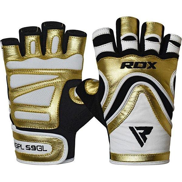 『VENUM旗艦館』RDX 英國 WGPL-S9GL 重訓 健身手套 透氣 防磨 金白 尺寸 XL