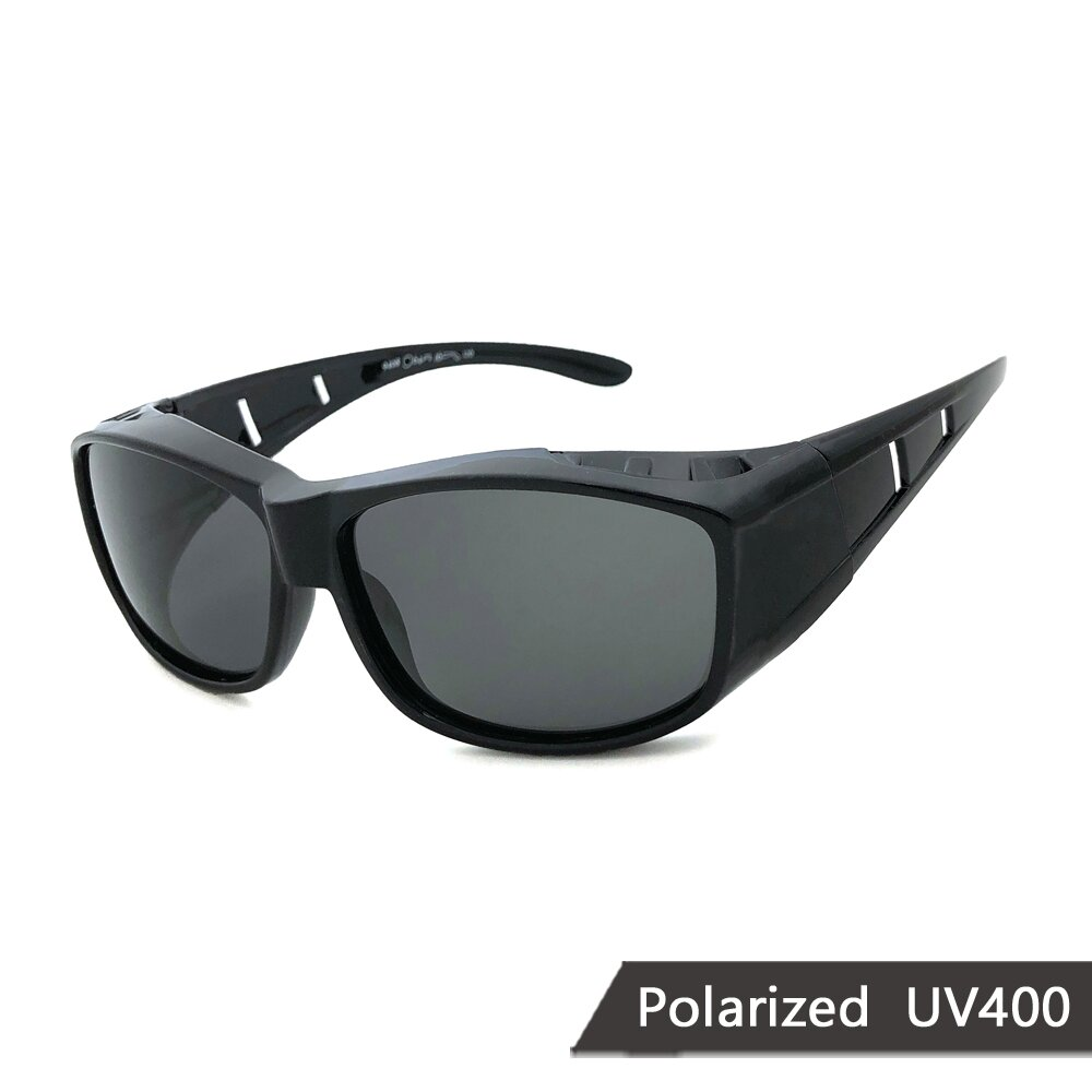 MIT偏光太陽眼鏡 黑框偏光墨鏡 抗UV/可套鏡(94808)