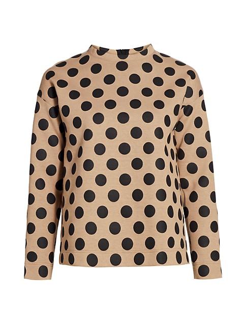 Polka Dot Jersey Sweatshirt