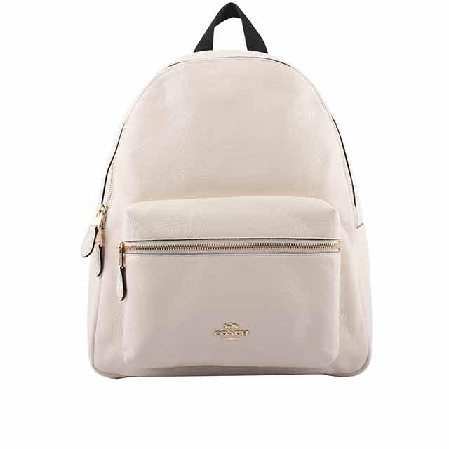 COACH 皮革口袋後背包(大款)(白色) F29004 IMCHK