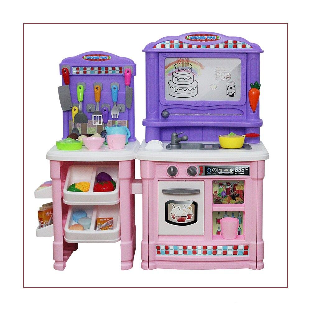 【i-Smart】扮家家酒玩具 廚房小當家烹飪檯餐具豪華組合-2色可選
