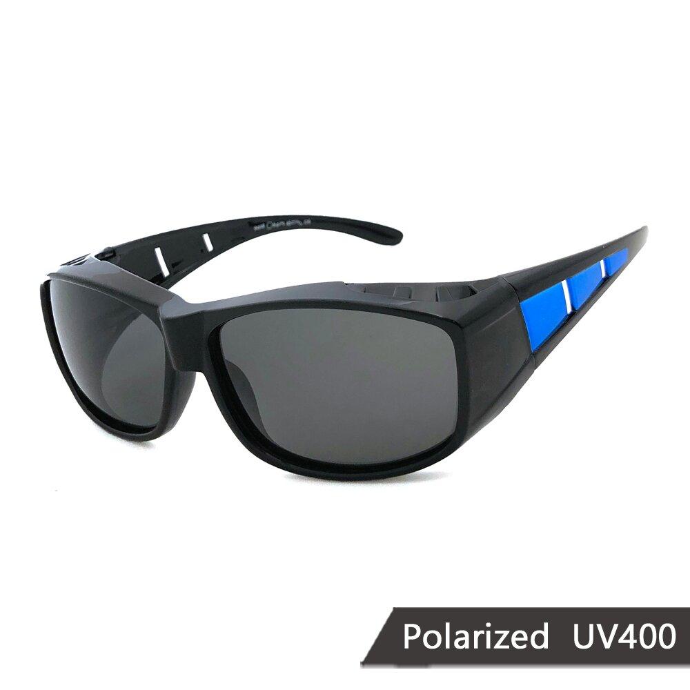 MIT偏光太陽眼鏡 藍框偏光墨鏡 抗UV/可套鏡(94808)