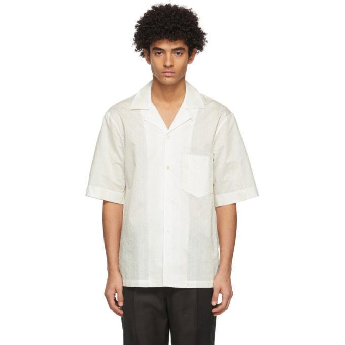 Acne Studios 白色条纹短袖衬衫
