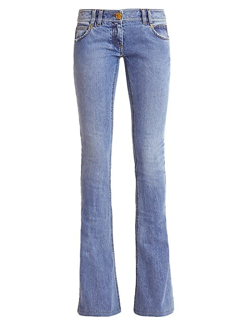 Monogram Low-Rise Bootcut Jeans