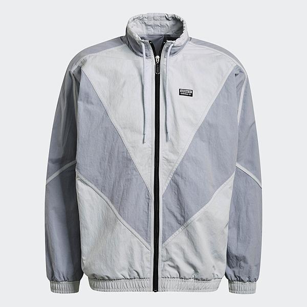 Adidas R.Y.V. V-LINE 男裝 外套 立領 可調式領口 口袋 V形裁切 灰藍【運動世界】GN3340