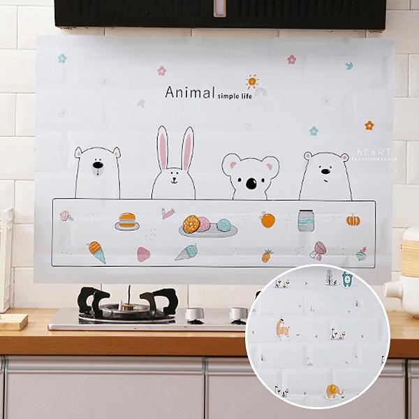 廚房用可愛圖案鋁箔防油貼 防油貼