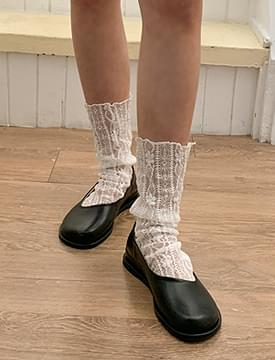韓國空運 - Blunt Round Flat Shoes 平底鞋