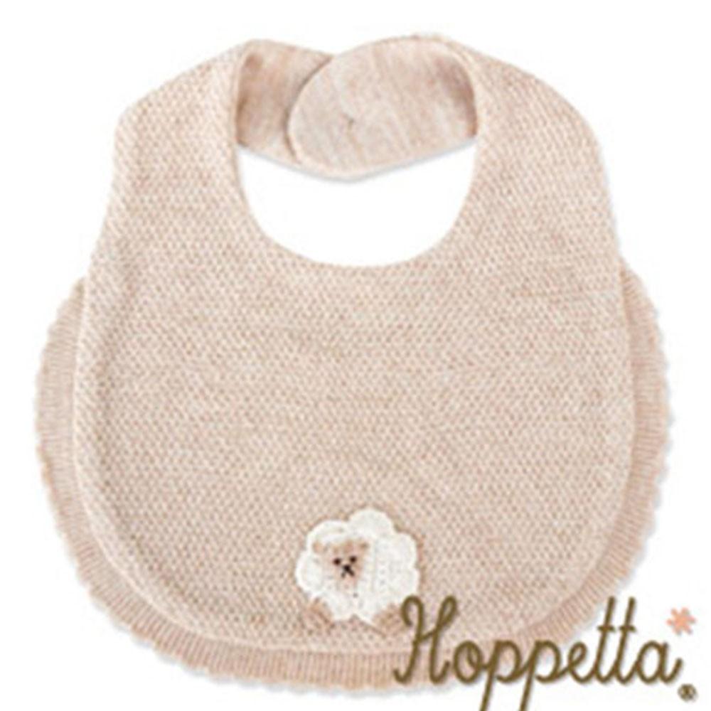 日本Hoppetta 有機棉針織口水巾(綿羊)(Songbaby)