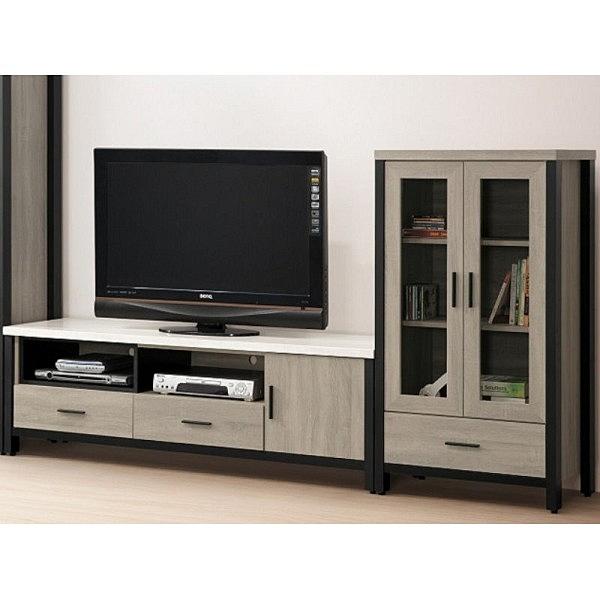 電視櫃 FB-692-2B 麥德爾灰橡色7.6尺電視櫃【大眾家居舘】