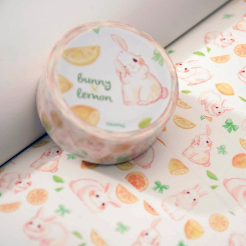 紙膠帶* Lemon x bunny(檸檬x兔兔)