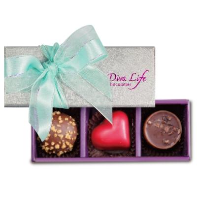 Diva Life Dazzling 璀璨經典巧克力禮盒 (夾心3入)