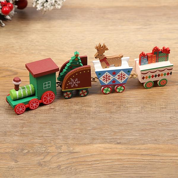 【BlueCat】聖誕節 二代 四台小火車 桌面擺飾