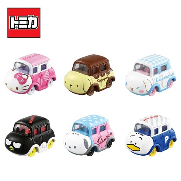 盒裝6款【日本正版】Dream TOMICA 三麗鷗家族 第2彈 小汽車 玩具車 多美小汽車 酷企鵝 貝克鴨 - 171270