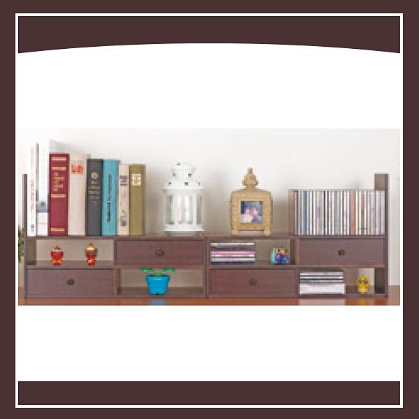【多瓦娜】百變伸縮桌櫃-胡桃色 21050-4137050351