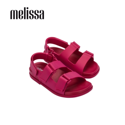 Melissa PAPETE純色寬帶涼鞋-桃紅