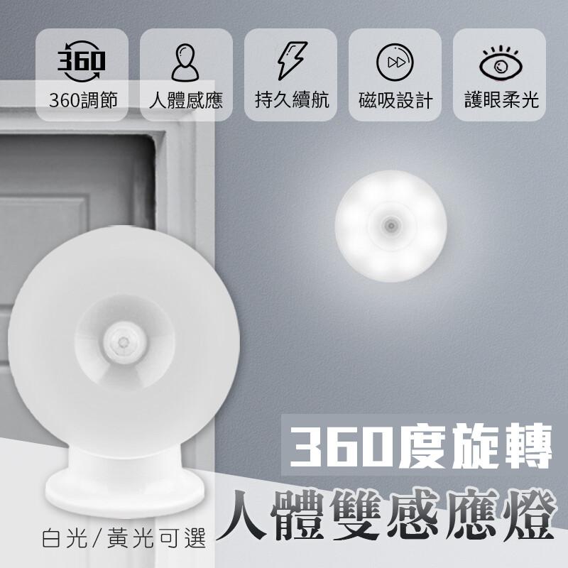 360度旋轉人體雙感應燈
