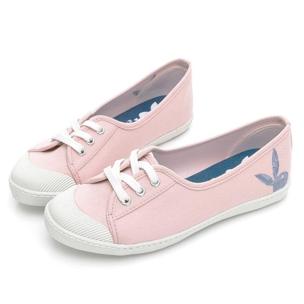 PLAYBOY 休閒時光 電繡兔兔綁帶懶人鞋-粉(Y7202)