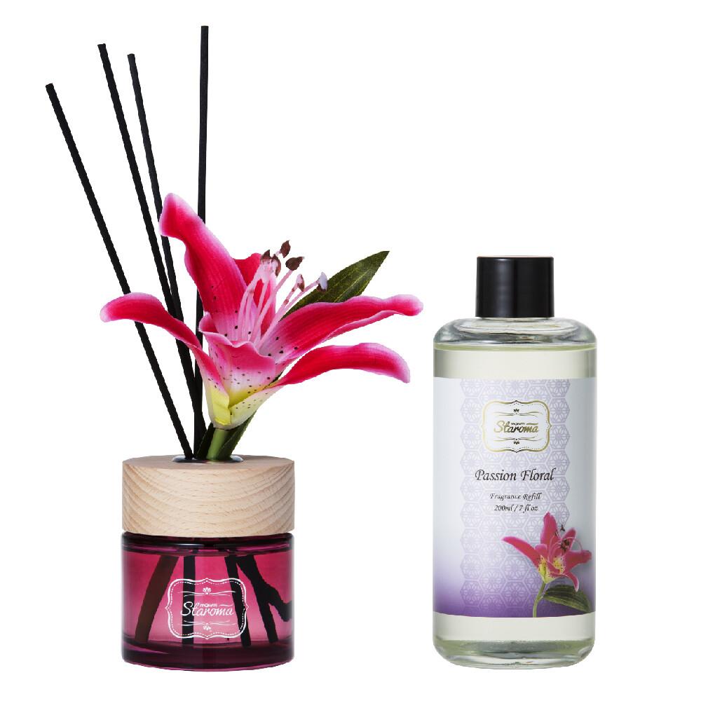 staroma經典花語擴香瓶+補充瓶-熱戀花園passion floral