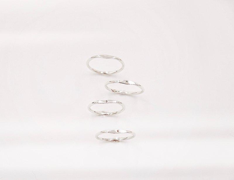 Initial Signet Ring | 字母圖章純銀戒指