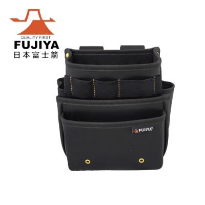 【FUJIYA】防潑水腰間工具收納袋-三層型
