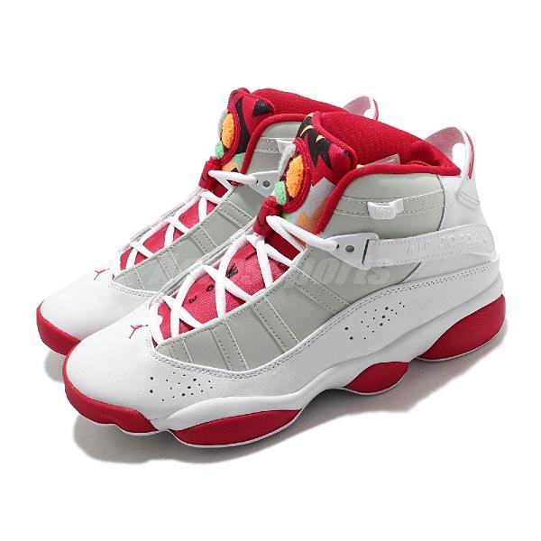 Nike 籃球鞋 Jordan 6 Rings Motorsports 白 紅 男鞋 合體款 喬登【ACS】 DD5077-105