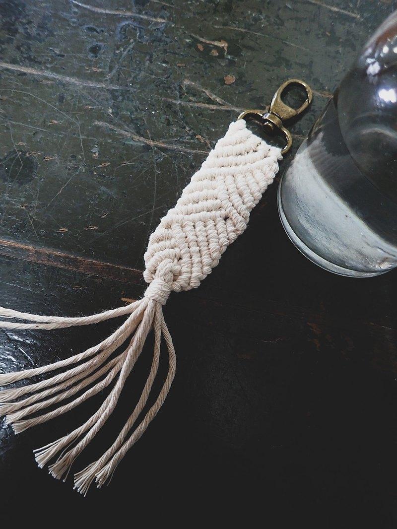 交錯斜紋-macrame編織鑰匙圈