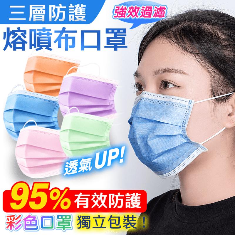 三層防護95+熔噴布口罩(35 片)