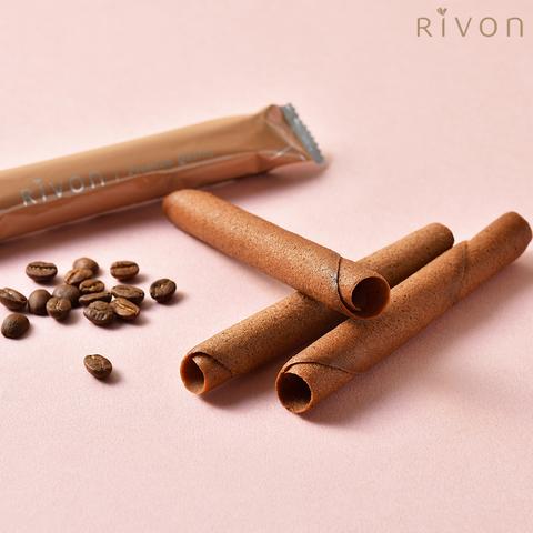 【Rivon禮坊】雪茄蛋捲鐵盒20入(摩卡)