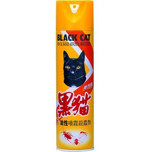黑貓新油性噴霧殺蟲劑600ml【愛買】