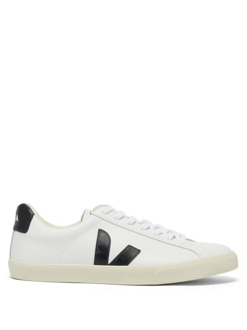 Veja - Esplar Leather Trainers - Mens - White Black