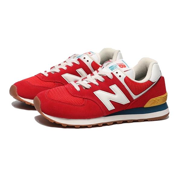 NEW BALANCE 童鞋 休閒鞋 574 亮紅 復古 麂皮 大童(布魯克林) GC574HA2