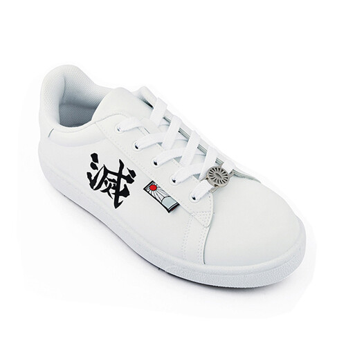 鞋子部落鬼滅之刃- 滅字運動鞋 大童鞋 男女運動鞋 kg8612-白