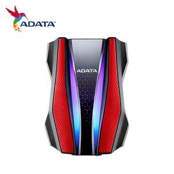 【綠蔭-免運】ADATA威剛 HD770G RGB 1TB(紅) 2.5吋軍規防水防震行動硬碟