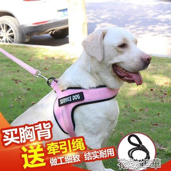 背心式遛狗狗牽引繩子胸背帶拉布拉多金毛用品泰迪中大型犬狗鏈子 快速出貨