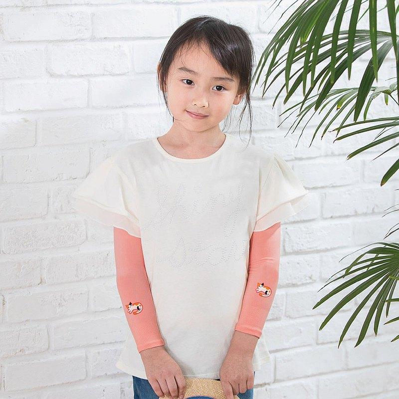 兒童高效涼感防蚊抗UV袖套-貓咪 UPF50+