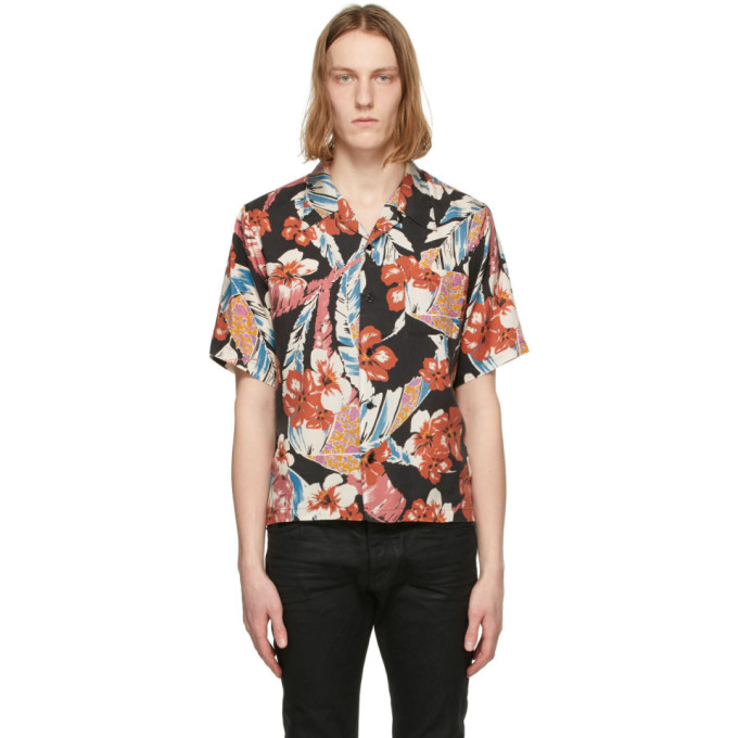 Saint Laurent 多色 Tropical 短袖衬衫