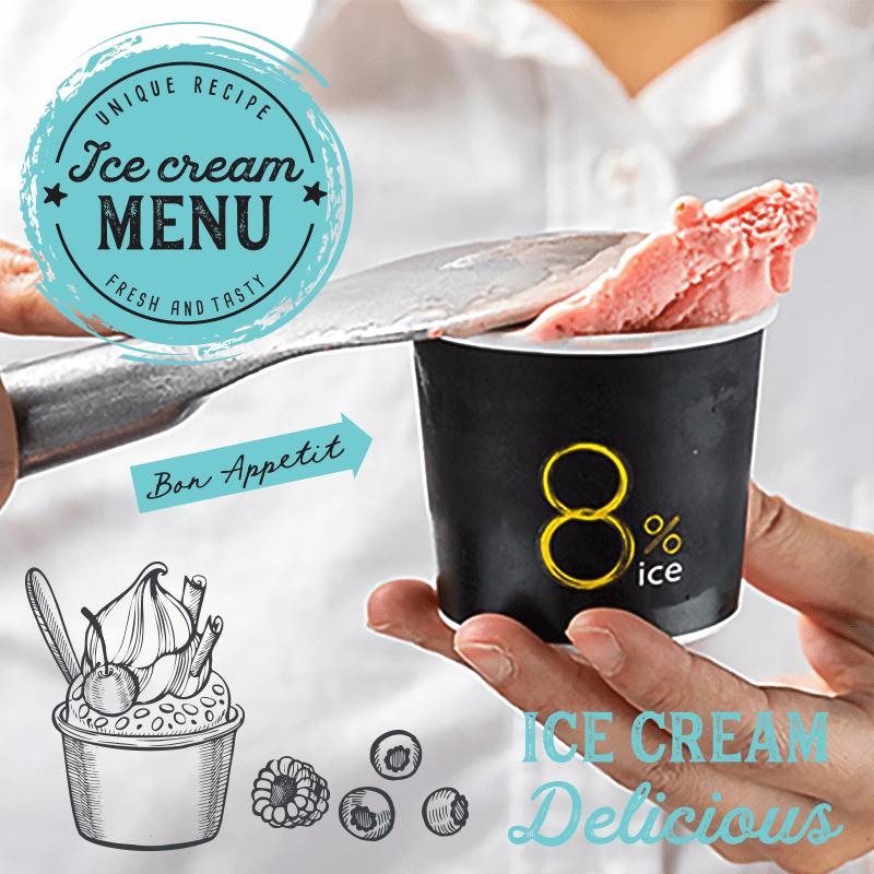【8%ice】義式冰淇淋雪酪系列(3 杯)