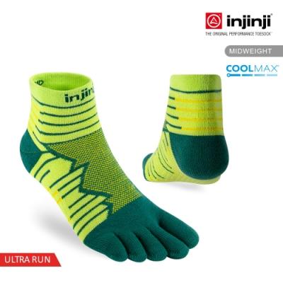 【INJINJI】Ultra Run終極系列五趾短襪 [螢光綠]