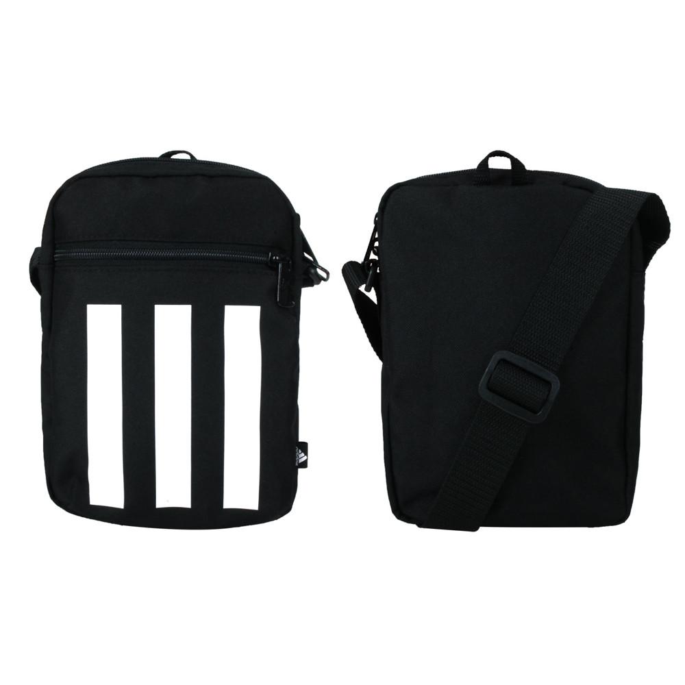 adidas 小型裝備袋-肩背包 斜背包 隨身包 愛迪達 黑白