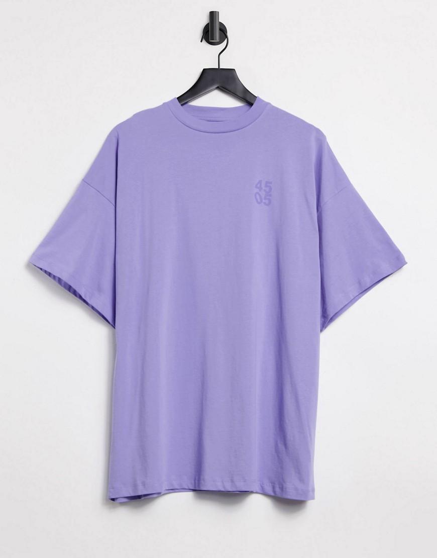 ASOS 4505 logo oversized t-shirt-Purple
