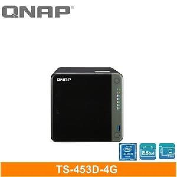 【綠蔭-免運】QNAP TS-453D-4G 網路儲存伺服器