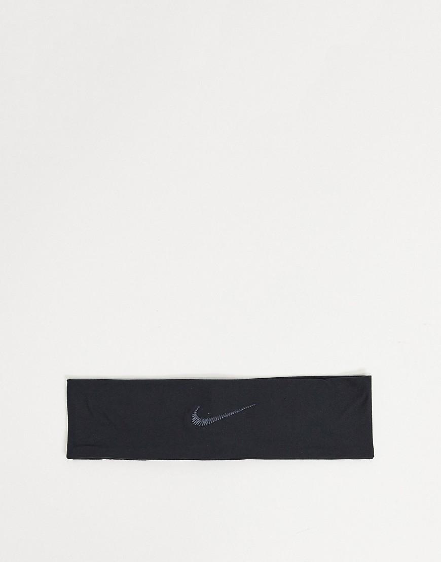 Nike Fury Swoosh headband in black