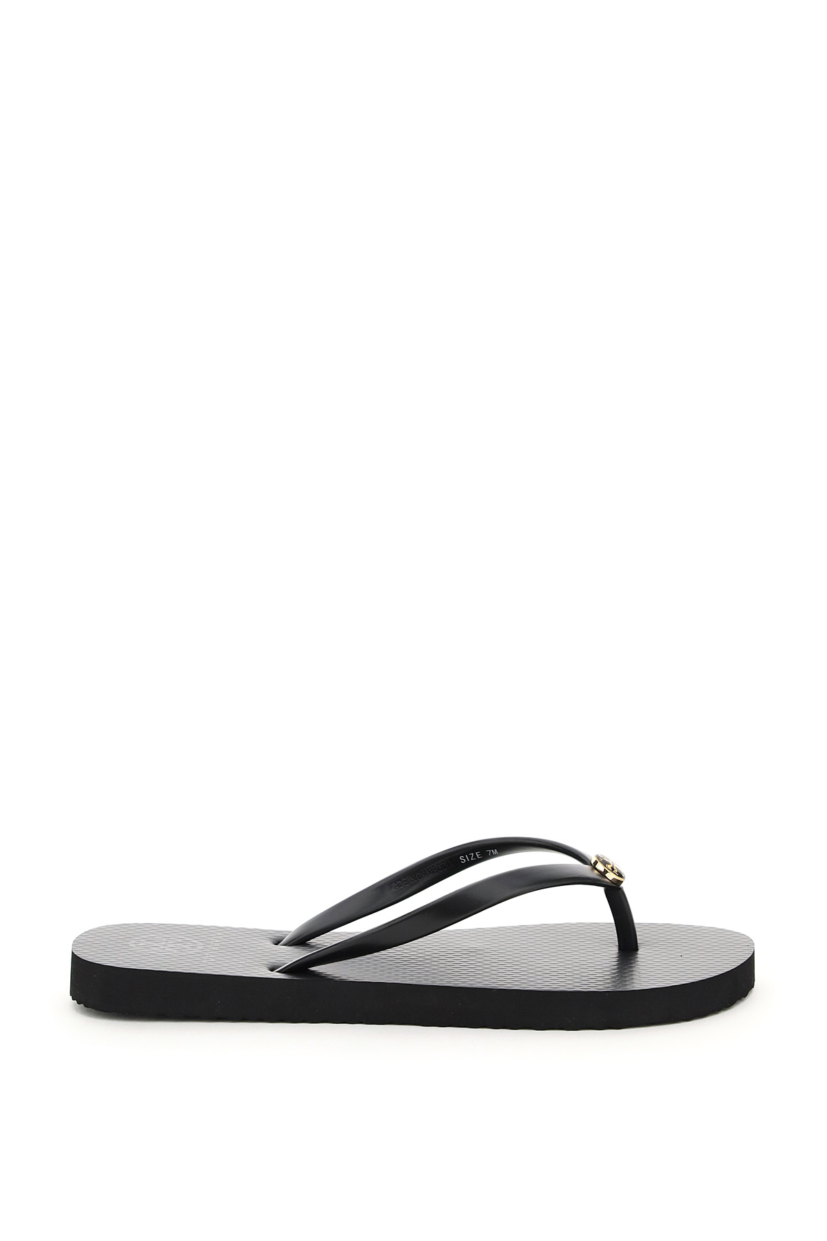 TORY BURCH RUBBER FLIP FLOPS 6 Black